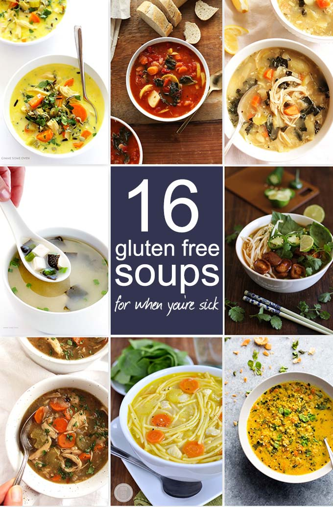 16 Gluten Free Soups for When You're Sick - The ultimate list of simple, nourishing, and comforting soup recipes to make when you're sick | robustrecipes.com