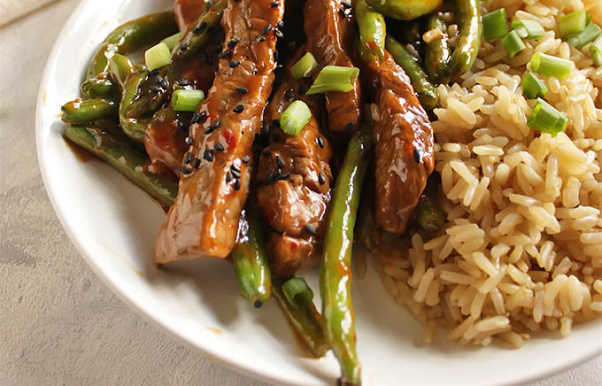 Asian Steak and Green Beans Stir Fry