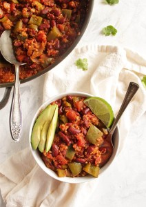 Vegan Chili Skillet with Quinoa