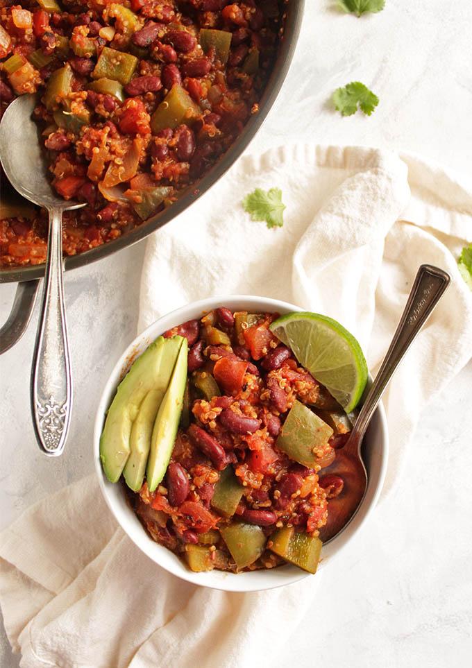 Vegan Chili Skillet with Quinoa