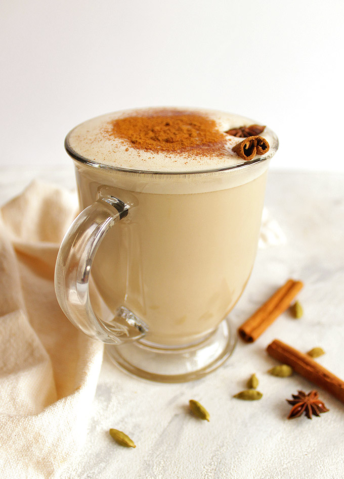 Coconut Whiskey Chai Latte