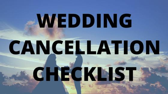 Wedding Cancellation Checklist