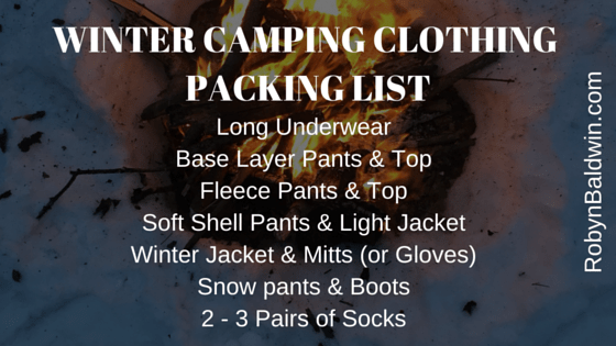 Clothing Packing List