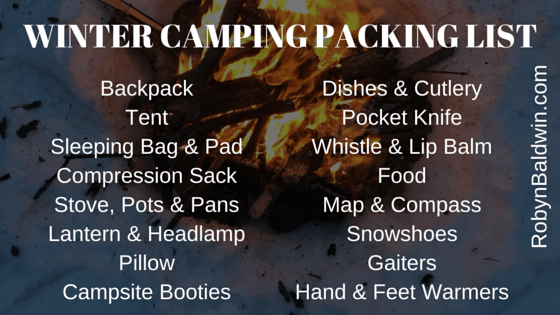 Winter Camping Packing List