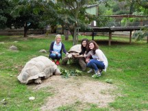 Julia, me and Kam at the Vallée des tortues near Perpignan!