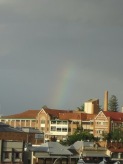 Rainbow over the Mater