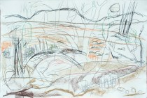 Homestead Creek III_2016_pastel and charcoal on Hahnmuhle paper_80x120cm