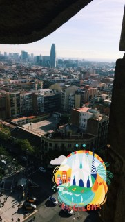 From the tower of the Sagrada Família