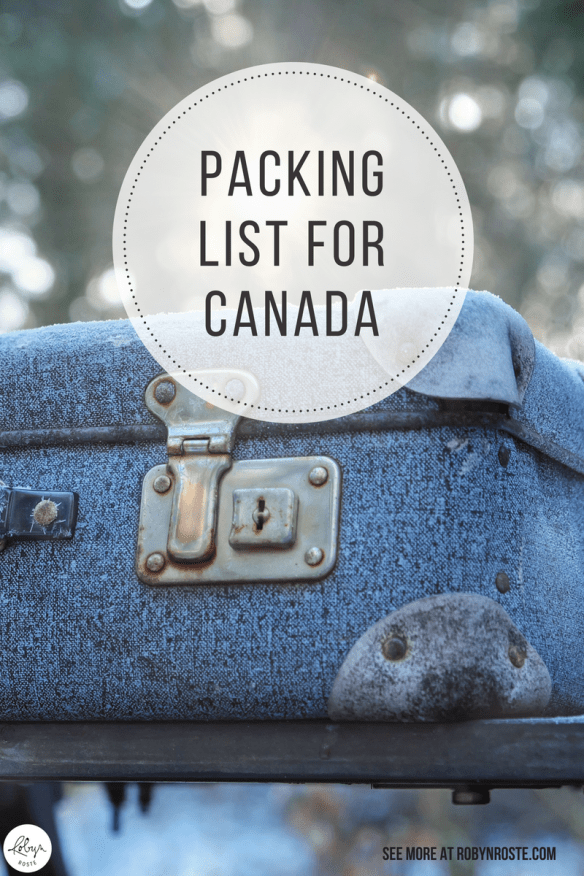 I'm terrible at packing, so I make packing lists. Here's my packing list for Canada because I'm taking the bus across CANADA!