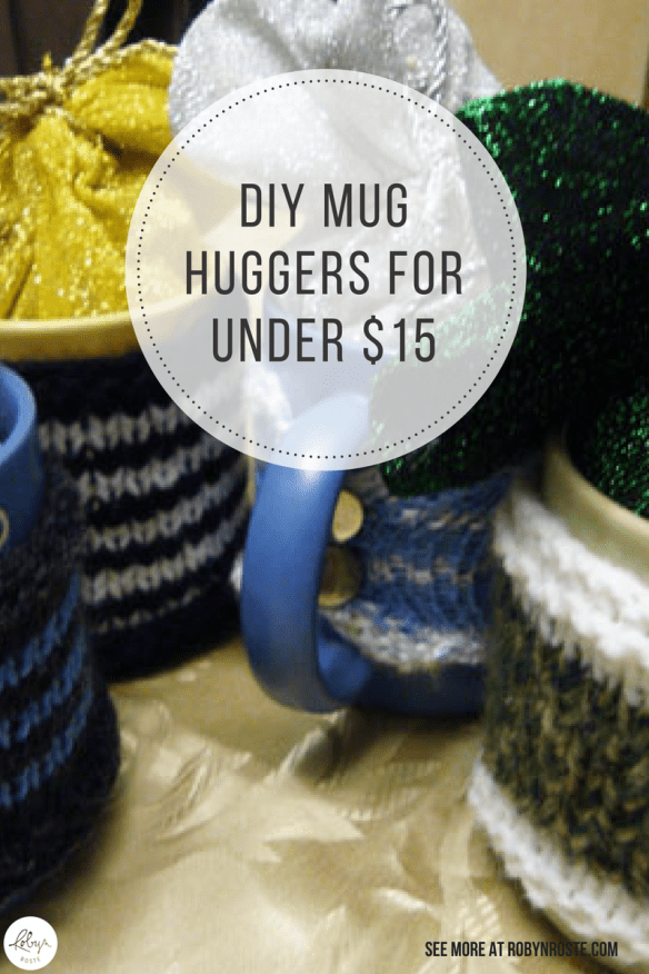 I stumbled upon an interesting blog about gifts in a jar. And I thought, I can do better. Here's how you can make arbyn's Christmas morning mug huggers too.