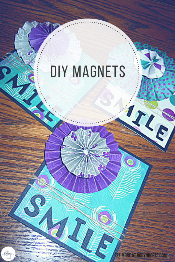 For Valentine's Day my crafty sister-in-law (who helped me make custom notebooks) gave me a Smile magnet, these cool DIY magnets are a great project!