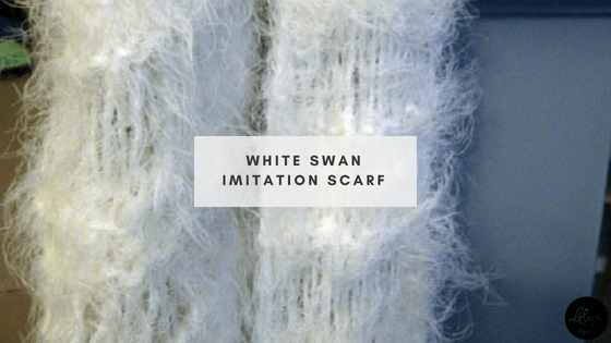 White Swan knitted scarf