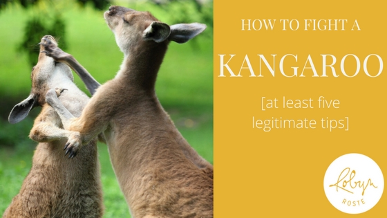 how to fight a kangaroo