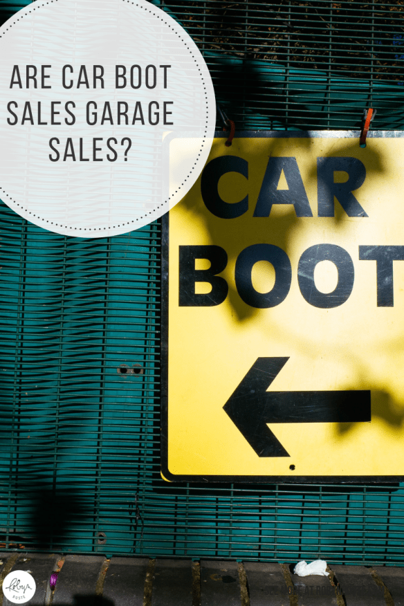 I have heard of car boot sales before, but I've never had the pleasure of attending one. And no I don't think a car boot sale is exactly like a garage sale.