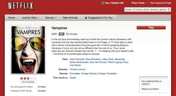 Netflix Vampires