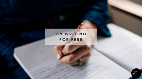 On Writing for Free