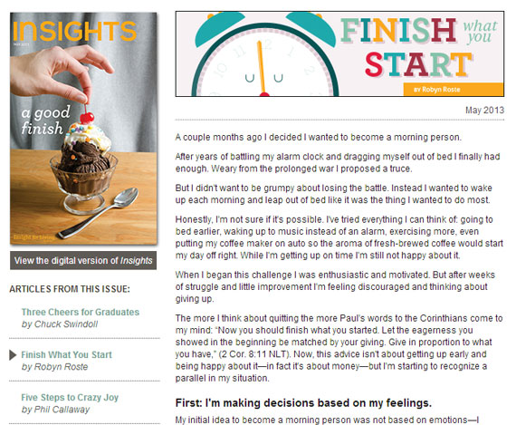 Finish what you start final article