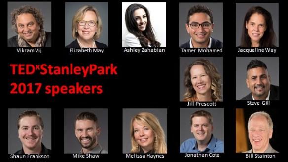 TEDxStanleyPark 2017 speakers list