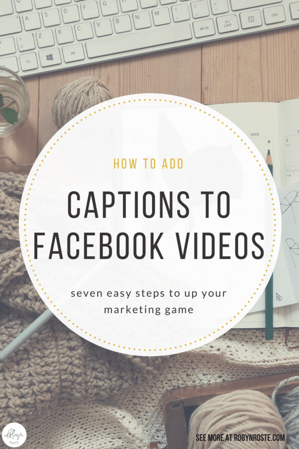 Subtitles. Words. Closed captions. How do people add captions to Facebook videos? I wondered the same thing, is adding captions to Facebook videos some sort of magic I wasn't privy to, or perhaps a paid feature for rich people? Well, it turns out there's one easy way to add captions and I'm here to blow your mind. Maybe.