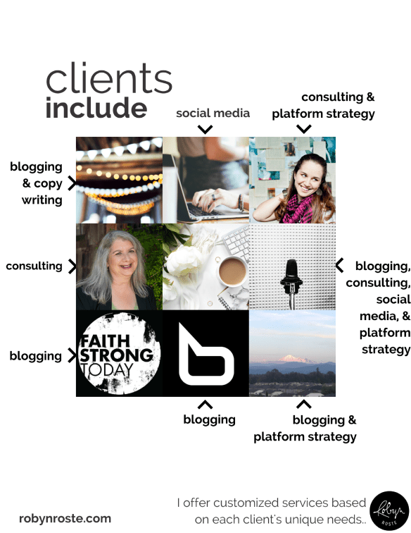 When you create a social media portfolio you can't always showcase your clients. If you can't, find an image representing their brand/business and describe how you served them.