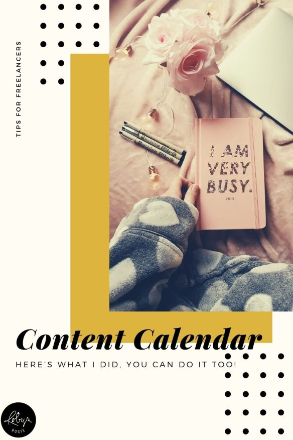 There's so much value in a good plan. I built my content calendar last fall and I'm keeping to it today. Here's what I did and how you can do it to.