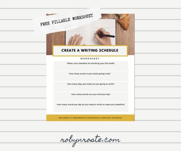 Create a Writing Schedule Worksheet