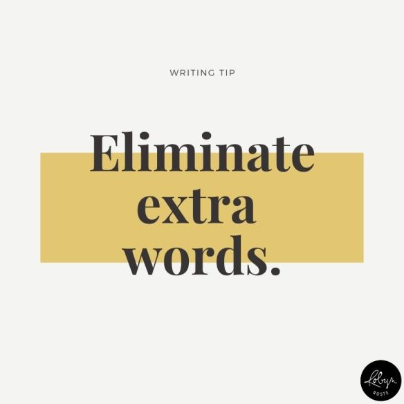 Writing tip: Eliminate extra words