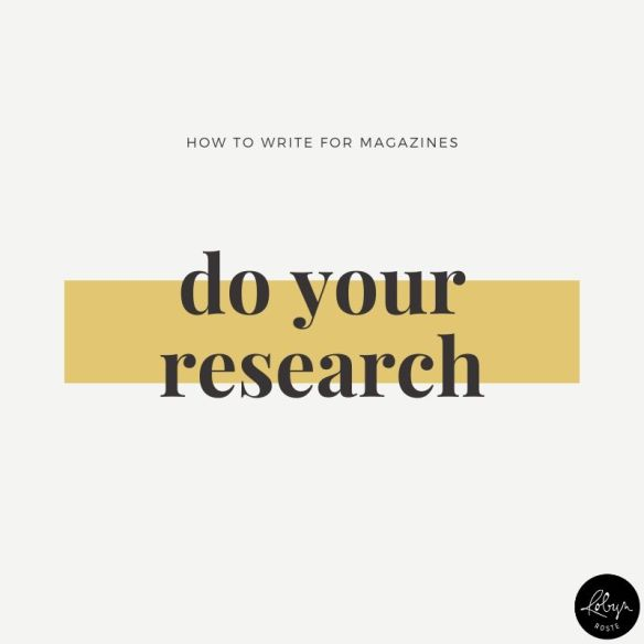 Tip 3: Before you pitch, do your research