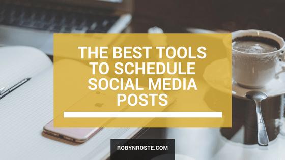 best tools to schedule social media posts