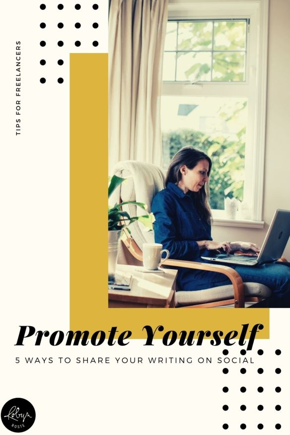 When you're a freelance writer it might seem strange to promote your writing to others on social media but it's an important step in marketing yourself.