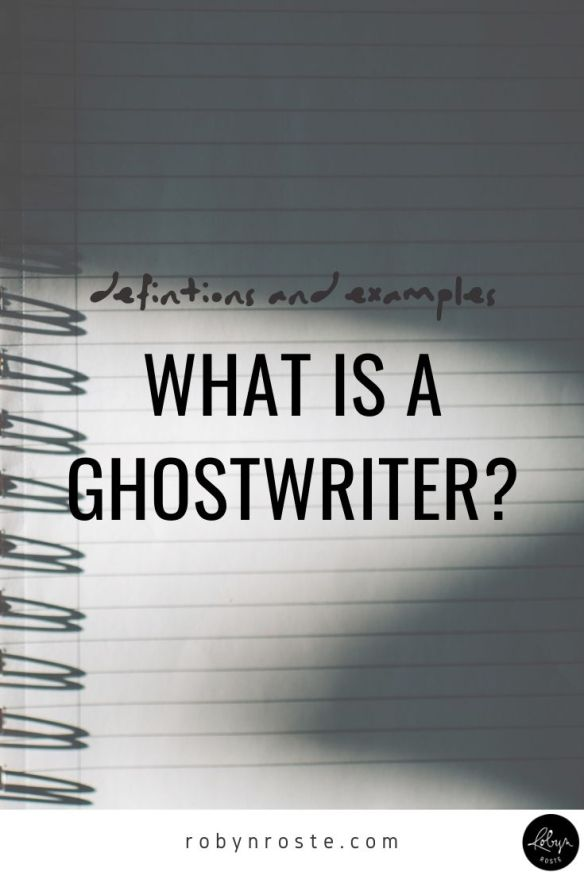 """What is a ghostwriter?"" The easiest way to explain ghostwriting to someone who things of the writing life as limited to authoring a book is this: a ghostwriter is someone who writes a book for someone else. They provide the service of writing a book and then release the rights to that book to the person who hired them to do it."
