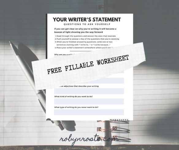 Your writer's statement worksheet free download