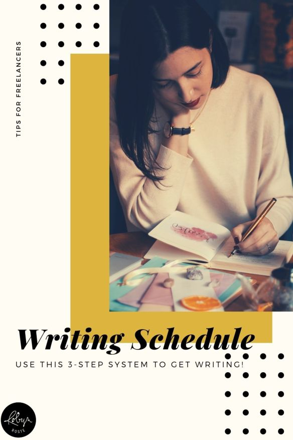When you're ready to write a book and you know the genre and how many words it will be, your next step is to create a writing schedule.  When you create a writing schedule you're building a strategy to ensure writing becomes integrated into your lifestyle so you reach your larger goals.   This strategy prepares you for days you don't feel like writing or for illness or for whatever else life throws at you.