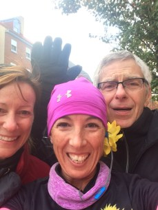 Thanks for coming out to cheer me on, Bill and Donnette!