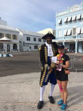 Post race picture with Ed Christopher, town crier.