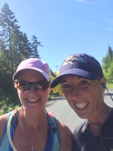 Meet up with Lashell - she had a strong run!