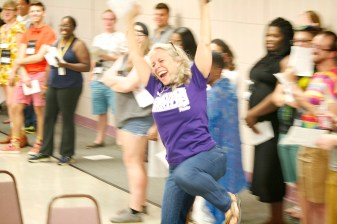 Robyn challenging a traditional coming out story at Camp Pride 2014