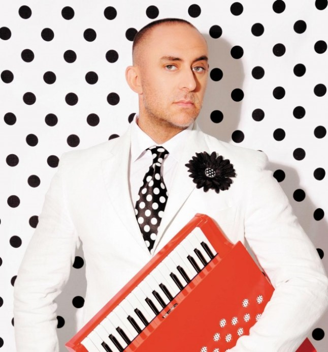 Solemn yet spotty: Rocco and his piano. Photograph courtesy Montecasino Theatre.