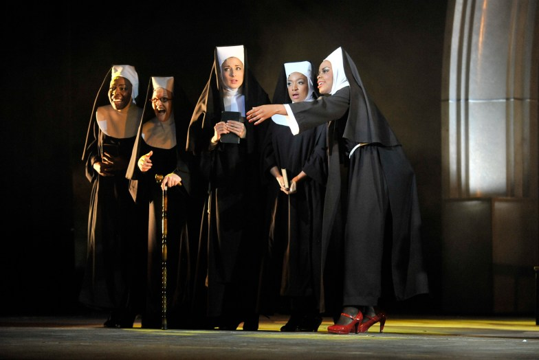 That's her, in the red shoes: Deloris (Candida Mosoma) with nuns () Photograph by Mariola Biela.