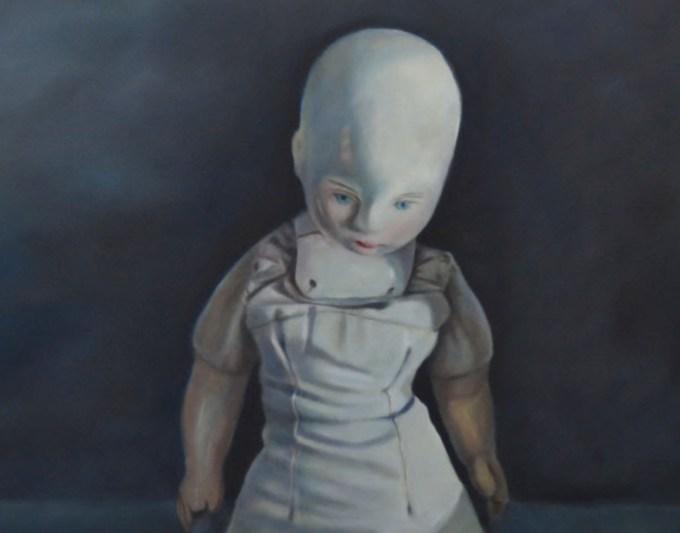 Ella's Doll (2015) oil on canvas, by Karin Preller. Photograph courtesy Lizamore & Associates.
