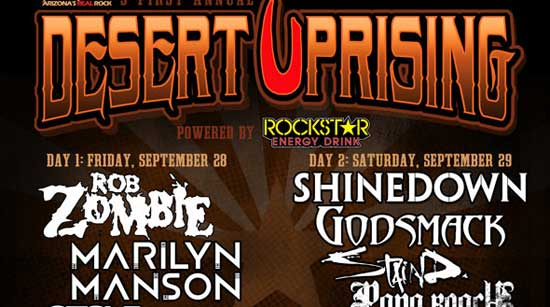 Rob Zombie and Marilyn Manson to appear at Desert Uprising