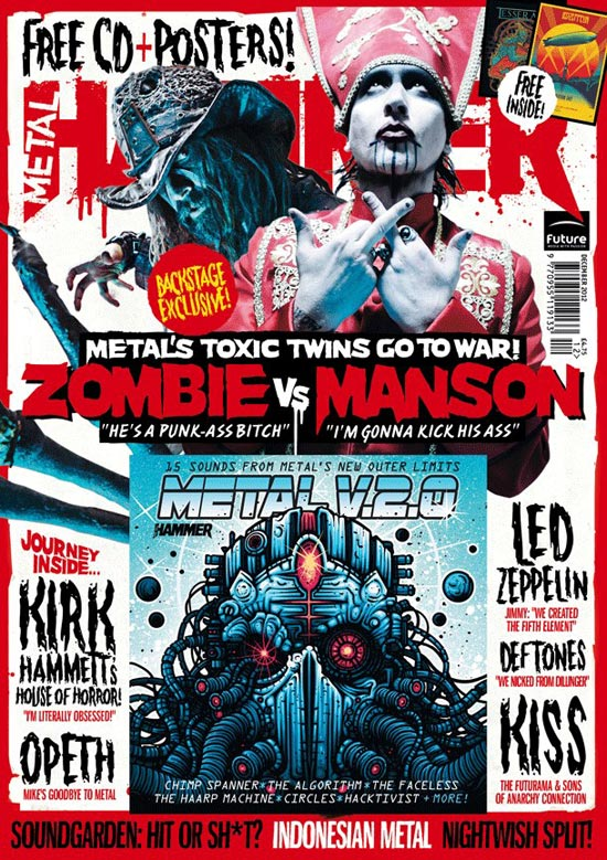 Metal Hammer cover Rob Zombie Marilyn Manson Twins fo Evil