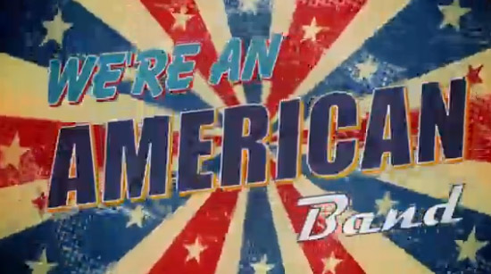 We're an american band lyric video