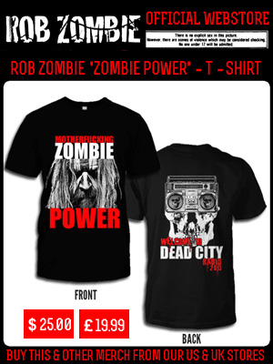 ROB ZOMBIE ZOMBIE POWER - T-SHIRT