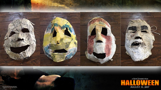 Halloween 2007 screen used masks