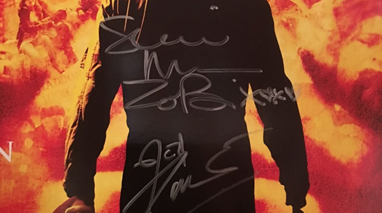 rare original German poster for Rob Zombie's Halloween. Poster is signed by both ROB ZOMBIE and SHERI MOON ZOMBIE.