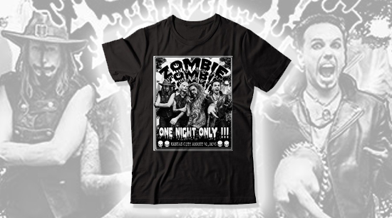 One Night Only Rob Zombie tour shirt
