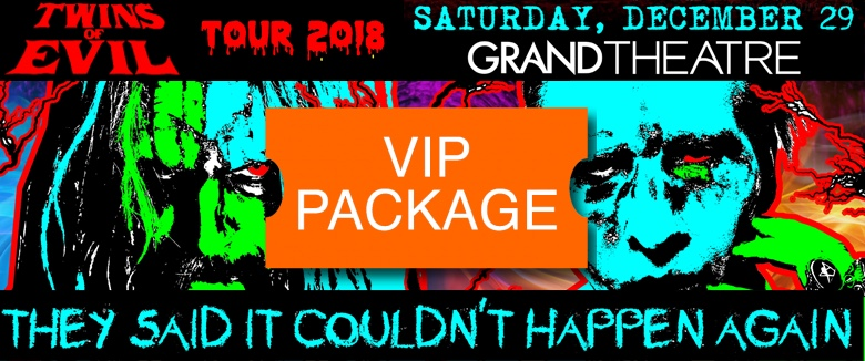 Twins of Evil Reno December 2018 VIP Package