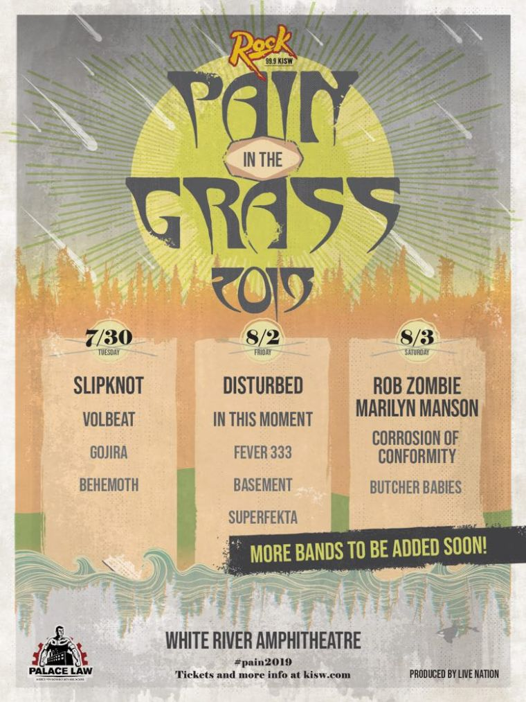 Rob Zombie Marilyn Manson Pain In The Grass 2019 Twins of Evil