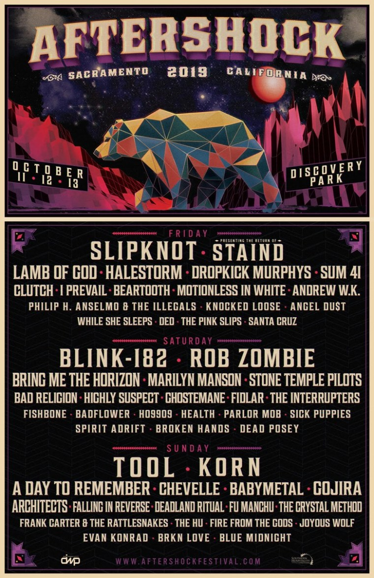 Aftershock 2019 Rob Zombie full line-up poster